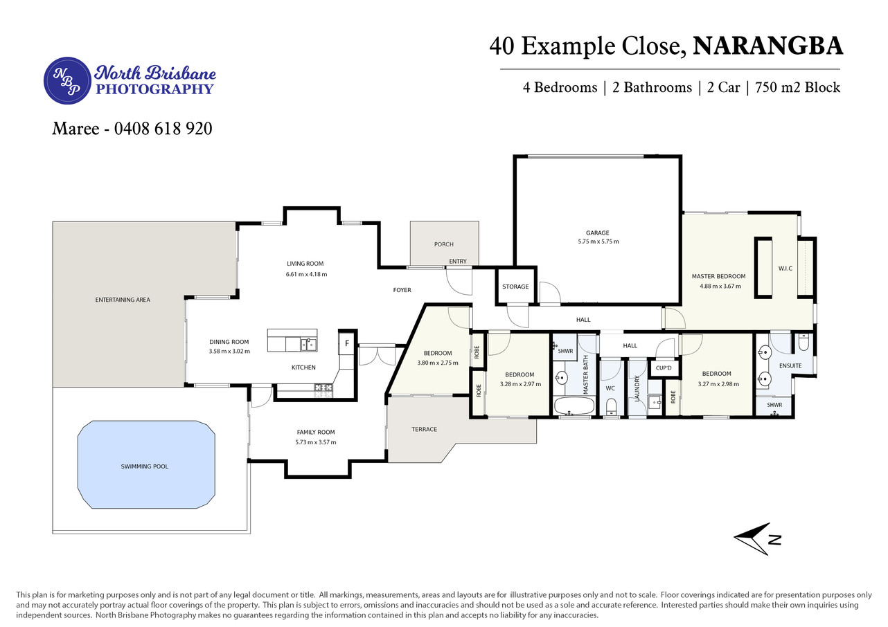Floor Plan 2D Colour Basic
