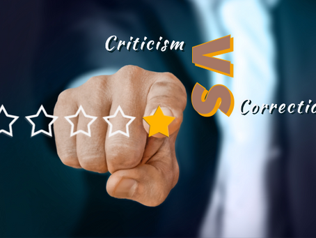 Criticism Vs Correction