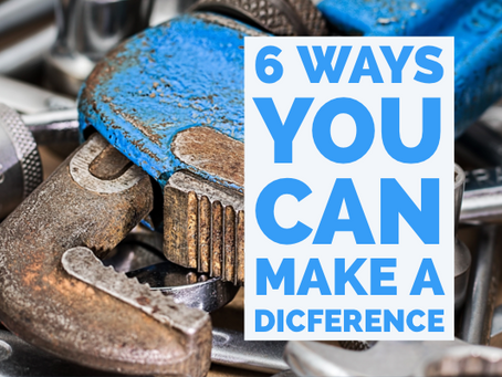 6 Ways You can Make a difference at your church