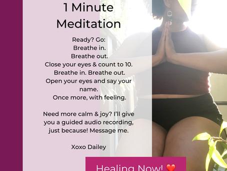 A Quickie Meditation