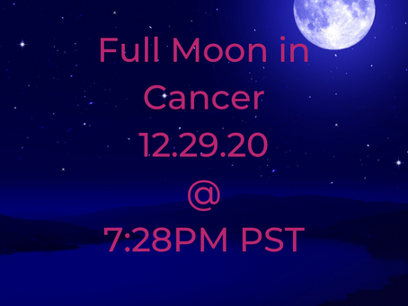 Full Moon in Cancer: Moon Wisdom for 12/29