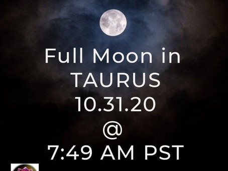 October Full Moon in Taurus