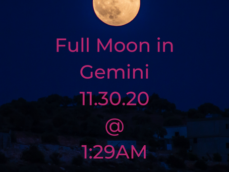Full Moon in Gemini: Moon Wisdom for 11/30