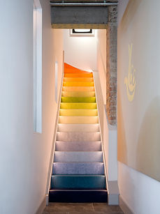 Mews House gradient colour stairs Cooley