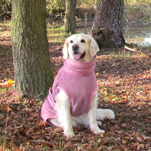 Roze hondenbadjas