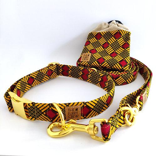 Set met halsband 'Senegal'