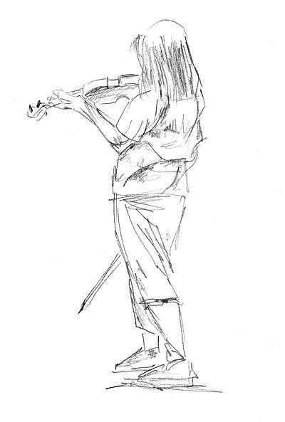 Niña en clase de violín