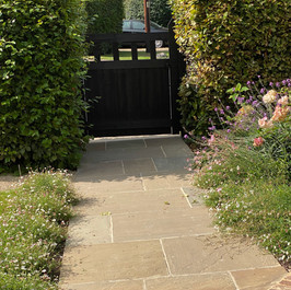 New garden path and planting