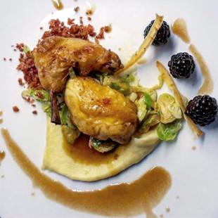 Poussin / Blackberries / Parsnip / Brussel Sprouts