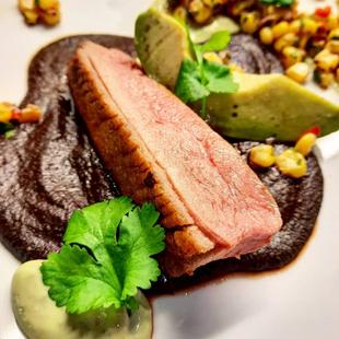 Duck / Mole Negro / Corn Salsa / Avocado