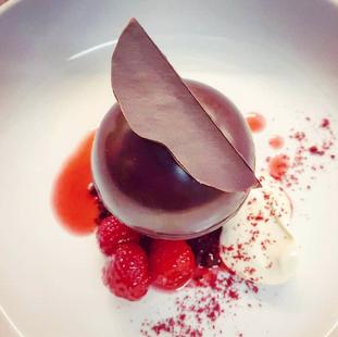 Dark Chocolate Mousse / Raspberry / Maple Creme Fraiche