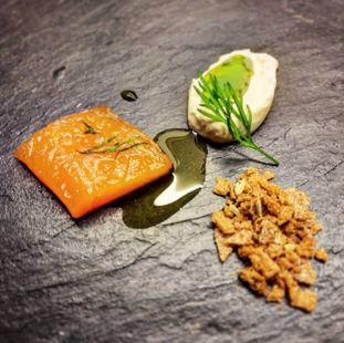 Whisky Cured Trout / Horseradish / Dill