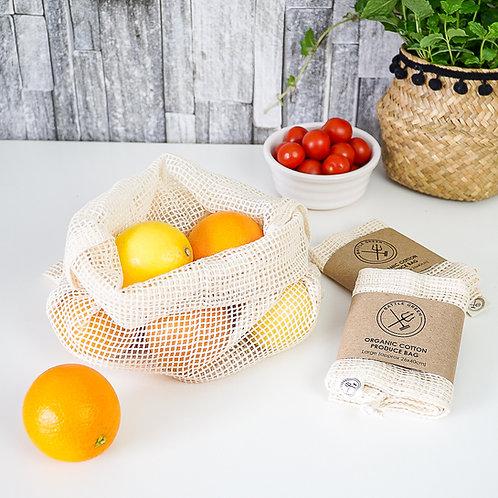 Organic Cotton Reusable Produce Bag - Large