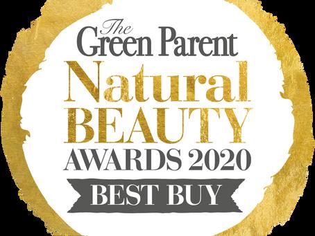 We Won! The Green Parent Natural Beauty  Awards 2020