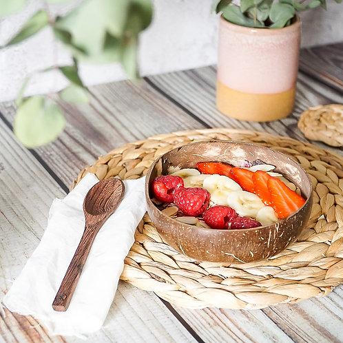 Coconut Smoothie Bowl & Buddha Spoon Set