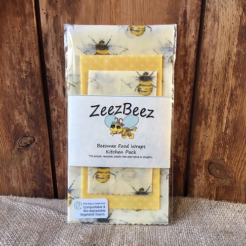 Beeswax Food Wrap - Kitchen Pack