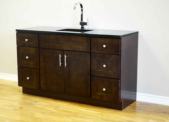"54"" Solid Wood Vanity With Quartz Countertop – TC – DS54"