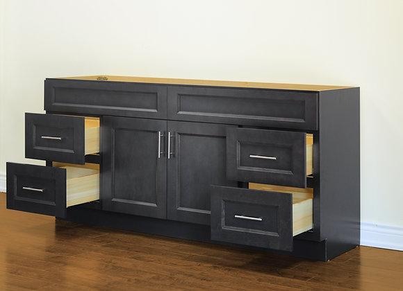"72"" Solid Wood Vanity With Quartz Countertop – TC – DGS72"