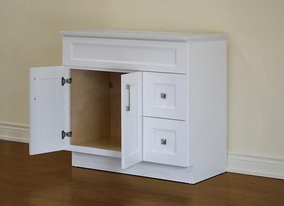 36″ Solid Wood Vanity with Quartz Countertop – TC – WS36