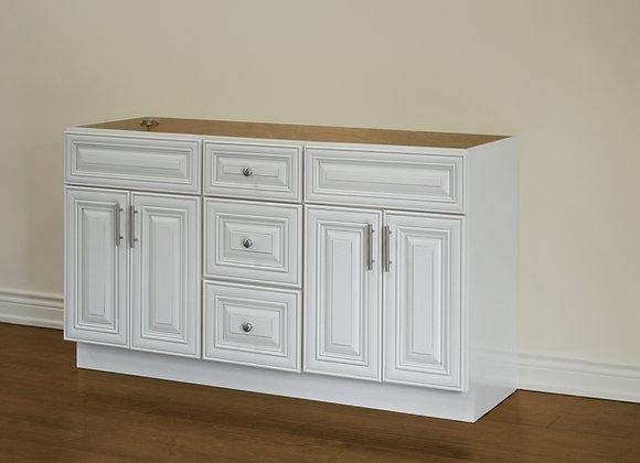 "60"" Solid Wood Vanity With Quartz Countertop – TC – IC60DD"
