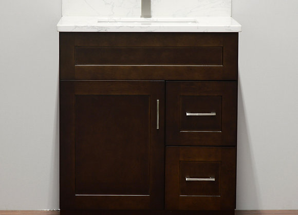 30″ Solid Wood Vanity with Quartz Countertop – TC – DS30