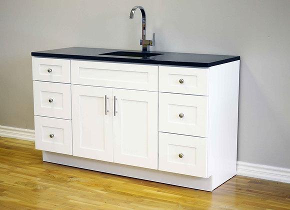 "60"" Solid Wood Vanity With Quartz Countertop – TC – WS60"