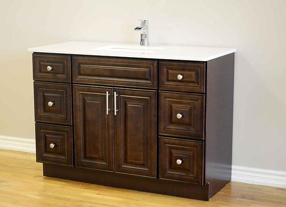 "48"" Solid Wood Vanity With Quartz Countertop – TC – DC48"