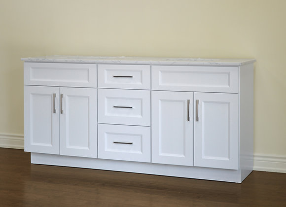 "72"" Solid Wood Vanity With Quartz Countertop – TC – WS72"