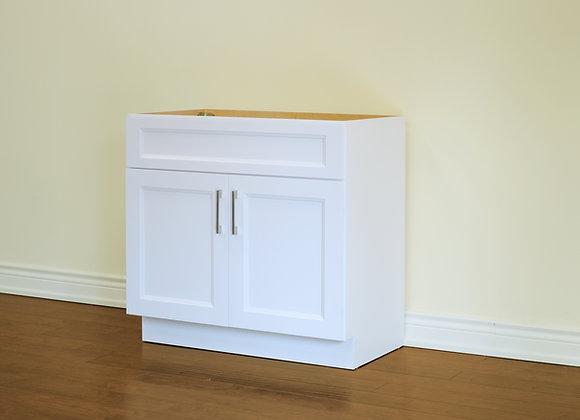 24″ Solid Wood Vanity with Quartz Countertop – TC – WS24