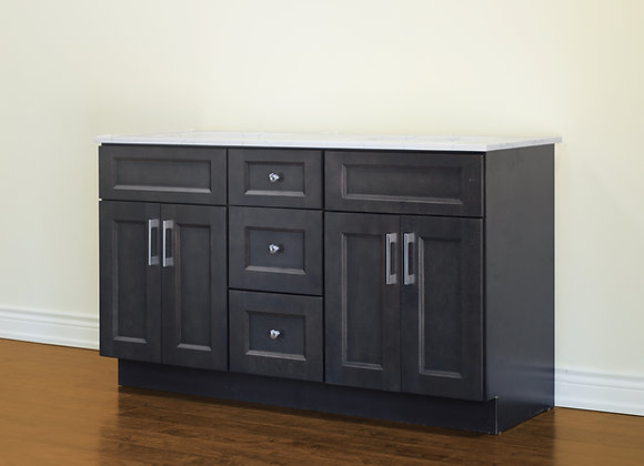 "60"" Solid Wood Vanity With Quartz Countertop – TC – DGS60DD"