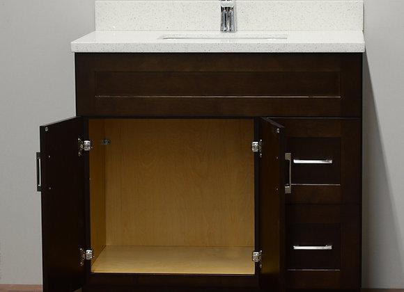 42″ Solid Wood Vanity with Quartz Countertop – TC – DS42