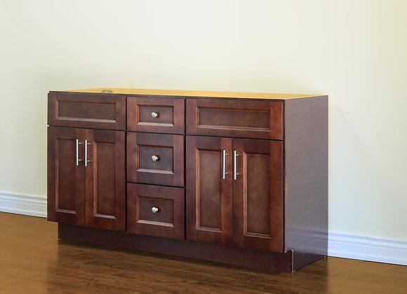 "60"" Solid Wood Vanity With Quartz Countertop – TC – DS60DD"
