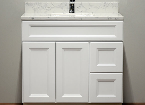 42″ Solid Wood Vanity with Quartz Countertop – TC – WS42