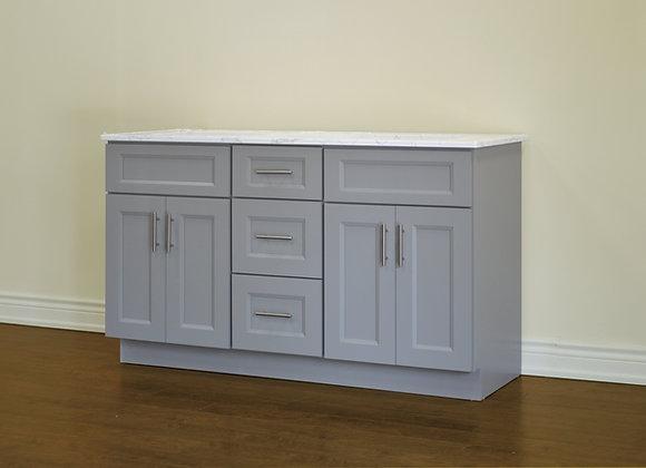 "60"" Solid Wood Vanity With Quartz Countertop – TC – GS60DD"