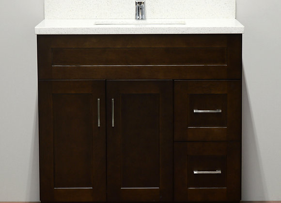 36″ Solid Wood Vanity with Quartz Countertop – TC – DS36
