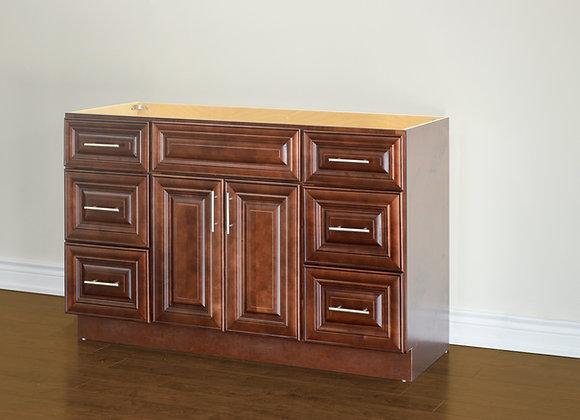 "54"" Solid Wood Vanity With Quartz Countertop – TC – DC54"