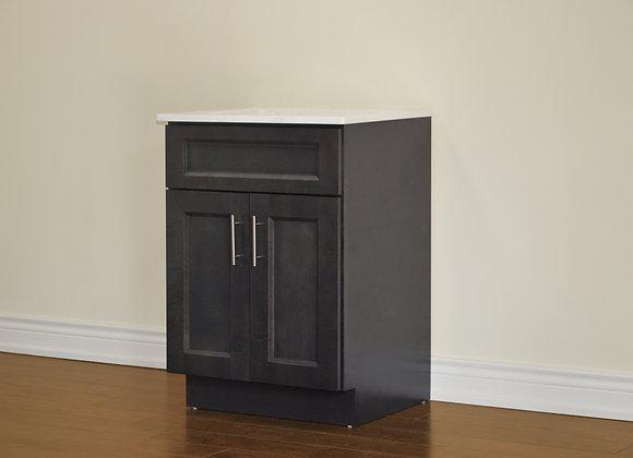 24″ Solid Wood Vanity with Quartz Countertop – TC – DGS24
