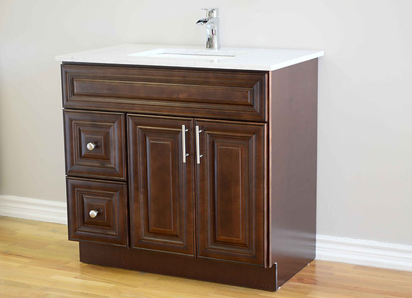 42″ Solid Wood Vanity with Quartz Countertop – TC –DC42