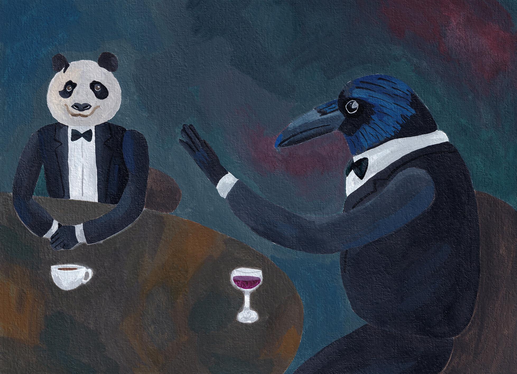 crow & panda