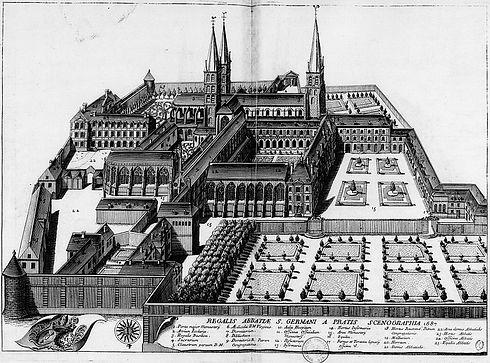 Abbaye_Saint_Germain_des_Prés_en_1687.jp