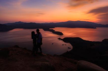 Romantic Sunset at Gili Lawa