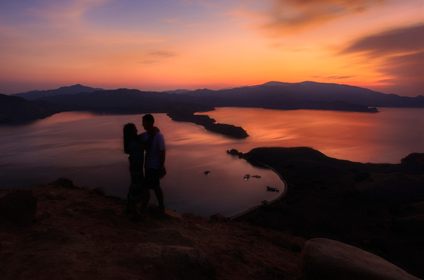 Romantic Sunset at Gili Lawa