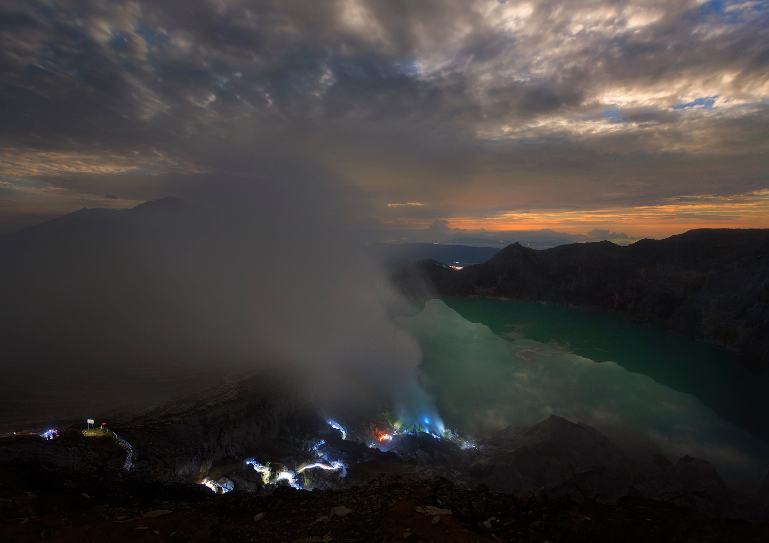 Blue Fire at Ijen