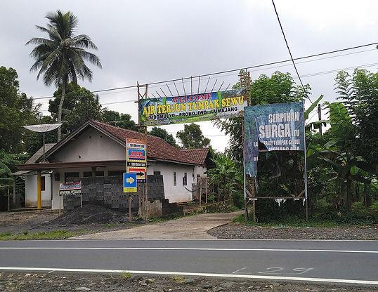 Tumpak Sewu Gate via Sidomulyo