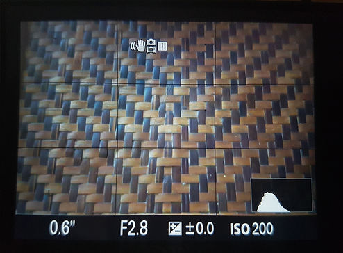 histogram on camera screen