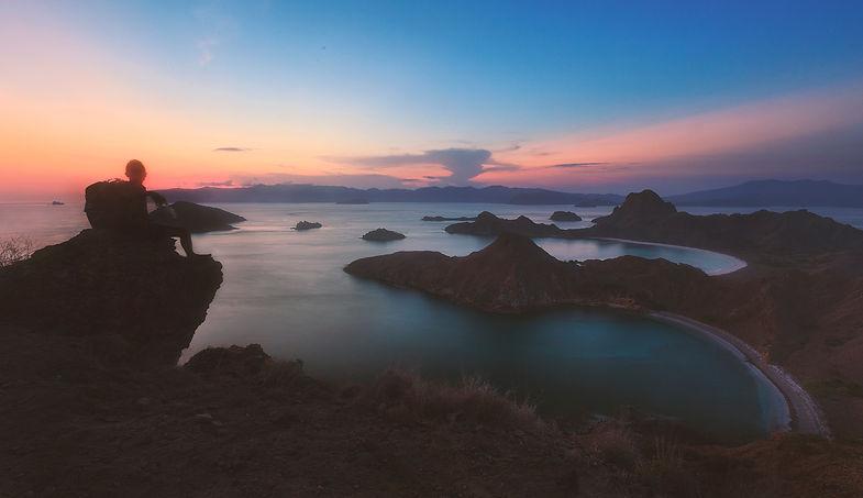 Sunset in Padar Island