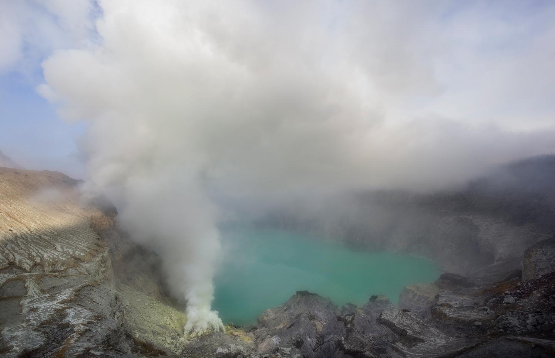 Ijen Sulfur Smoke