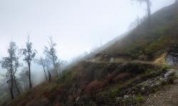 Hiking at Ijen