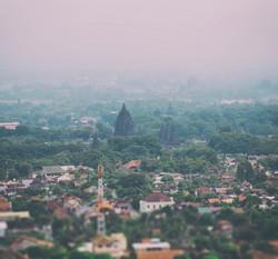 Prambanan from Afar