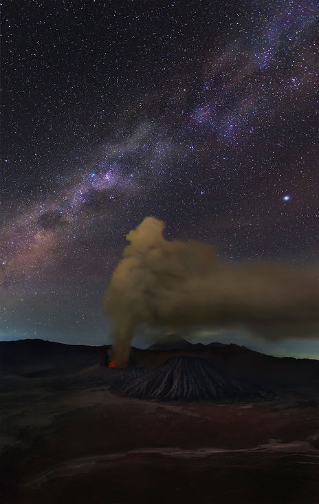 Bromo At Night